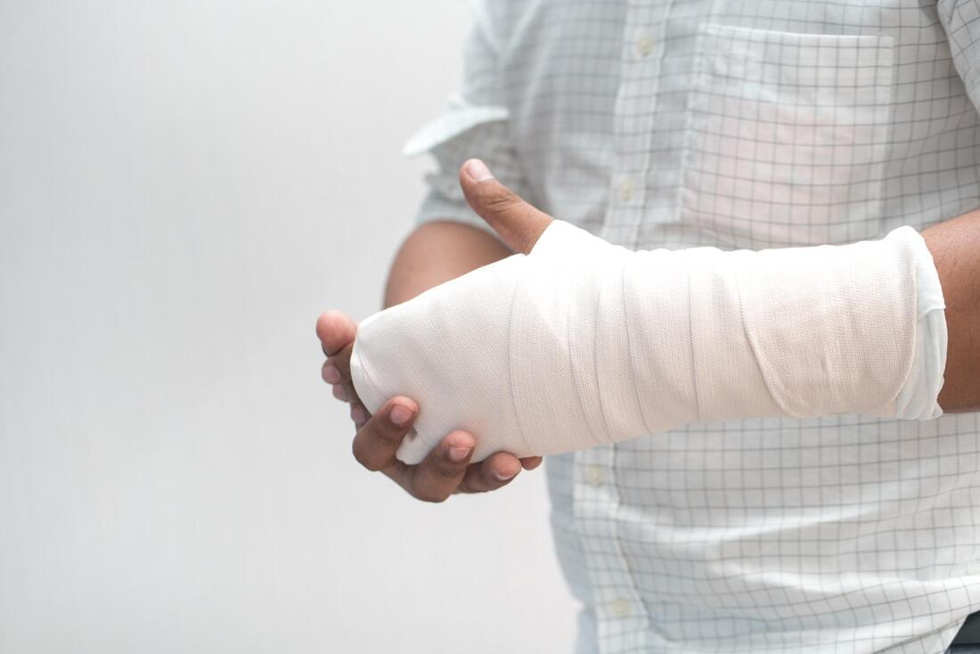 man with hand injury